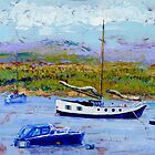 Bright Sunshine, Boats on the Estuary. by Antony R James