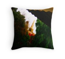 Tower in The Midst of Nature Throw Pillow