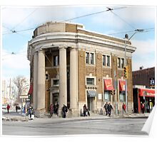 Danforth and Broadview CIBC Building Poster