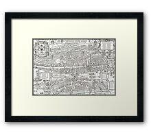 ZURICH SWITZERLAND 1576 MAP Framed Print