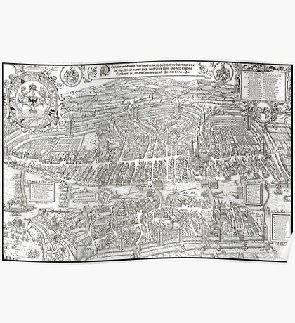 ZURICH SWITZERLAND 1576 MAP Poster