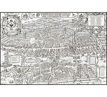 ZURICH SWITZERLAND 1576 MAP Photographic Print