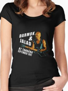 Darmok & Jalad at Tanagra ST TnG (Dark ONLY) Women's Fitted Scoop T-Shirt