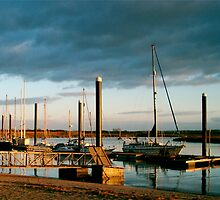 Evening light, Burnham and Highbridge estuary. by Antony R James