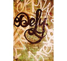 Defy- Unique Urban Art Photography Photographic Print