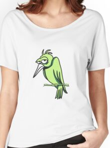 funny bird sad cool comic 3c. Women's Relaxed Fit T-Shirt