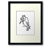 funny bird sad cool comic Framed Print