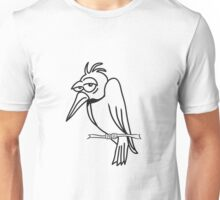 funny bird sad cool comic Unisex T-Shirt