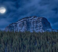Full Moon at Kananaskis Country, Alberta by PURVESH TRIVEDI