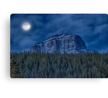Full Moon at Kananaskis Country, Alberta Canvas Print