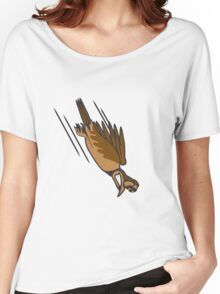 funny bird crash cool funny comic Women's Relaxed Fit T-Shirt