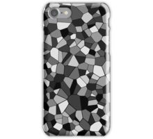Black And White Monochrome Geometric Mosaic iPhone Case/Skin