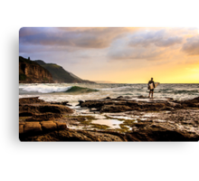 Early morning plunge Canvas Print