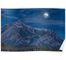 Full Moon at Kananaskis Country, Alberta Poster