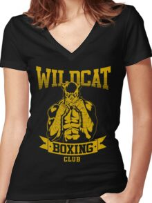 Wildcat's Boxing Club Women's Fitted V-Neck T-Shirt