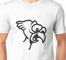 Bird funny animal cool nature funny comic Unisex T-Shirt