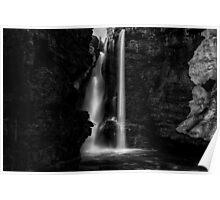 Upper Falls at Johnston Canyon - Banff National Park, Alberta Poster