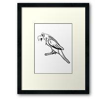 Bird funny animal cool natural comic Framed Print