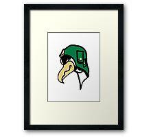 Bird funny animal cool Vulture comic Framed Print