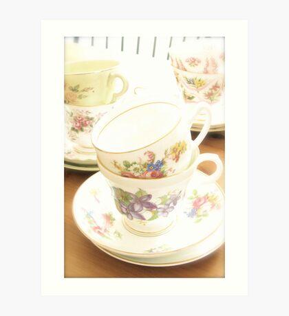 China Tea Cups II Art Print