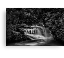 Waterfall at Johnston Canyon - Banff National Park, Alberta Canvas Print