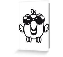 Bird funny birdie sunglasses cool comic Greeting Card
