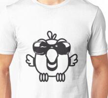 Bird funny birdie sunglasses cool comic Unisex T-Shirt