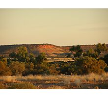 'IN THE MIDDLE OF NOWHERE!'  Sunset, cent. Quld. Aus. Photographic Print