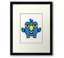 Funny bird birdie cool comic Framed Print
