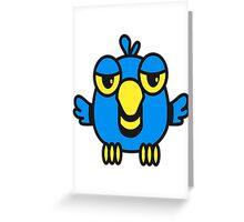 Funny bird birdie cool comic Greeting Card