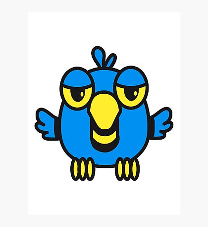 Funny bird birdie cool comic Photographic Print