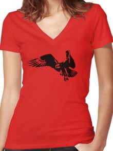Bird of Prey Women's Fitted V-Neck T-Shirt