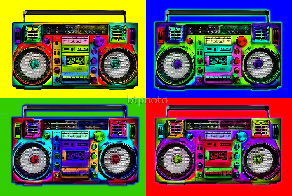 Boombox Pop Art Boombox Pop Art by btphoto