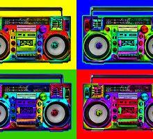 Boombox Pop Art by btphoto