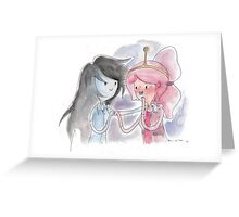 Princess Bubblegum x Marceline FIST BUMB KISS Greeting Card