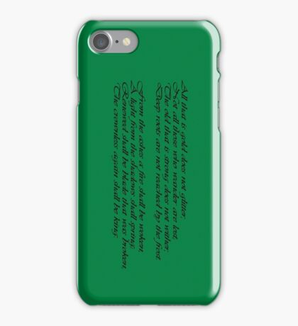 The Riddle of Strider - LOTR iPhone Case/Skin