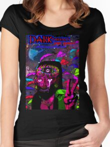 Psychedelic Jesus Reincarnate Women's Fitted Scoop T-Shirt
