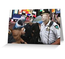 cops and robbers  Greeting Card