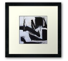 Planting Seeds - New Black White Abstract Stylish Fine Art Framed Print