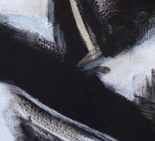 Planting Seeds - New Black White Abstract Stylish Fine Art Sticker