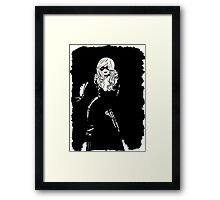 Black Cat Black Night Framed Print