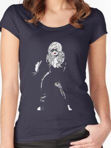 Black Cat Black Night Women's Fitted Scoop T-Shirt