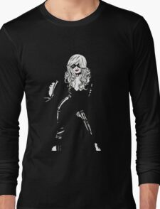 Black Cat Black Night Long Sleeve T-Shirt