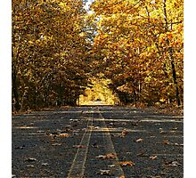 Two Lane Country Road Photographic Print