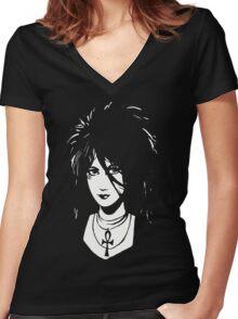 Sandman DEATH  Vintage Neil Gaiman Tribute  Women's Fitted V-Neck T-Shirt