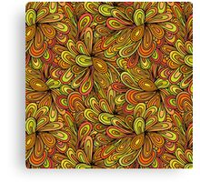 Vintage Bright Floral Pattern Canvas Print