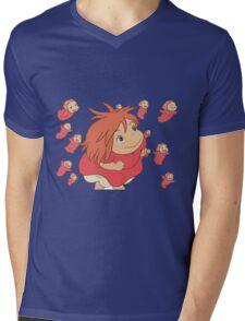 Ponyo, escape Mens V-Neck T-Shirt
