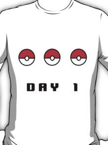 Day 1: Twitch Plays Pokemon (bigger image) T-Shirt