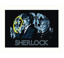 Sherlock - A Study in Blue Art Print