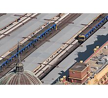 Trains crossing Photographic Print